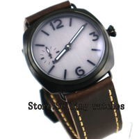 parnis 47mm Watch Top Brand Luxury Men Military Sterile Dial PVD Glass Wristwatch 17 jewels Hand Winding Mens Watches