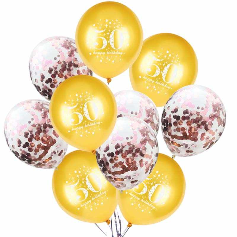 Gold 30 Birthday Balloon 30th 40th 50th 60th 80th Years Decorations Adult Ballon Helium Inflatable