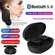 Bluetooth Headsets For Redmi Airdots Wireless Earbuds 5.0 TWS Earphones Handsfree Headphone With Mic for Xiaomi iPhone Huawei a6s tws bluetooth 5 0 earphones stereo wireless noise cancellation with mic handsfree earbuds for iphone xiaomi redmi
