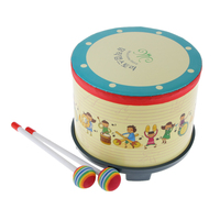 Kids Child Learn Play 7 87 20cm Percussion Drum W Colorful Drumsticks Beat Gift Learning Education