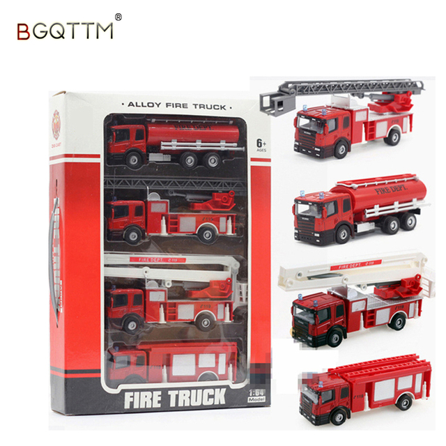 2017 New Cool Toy Truck Fire Equipment Models Car Alloy Taxied Model Ladder Educational Toys Gift