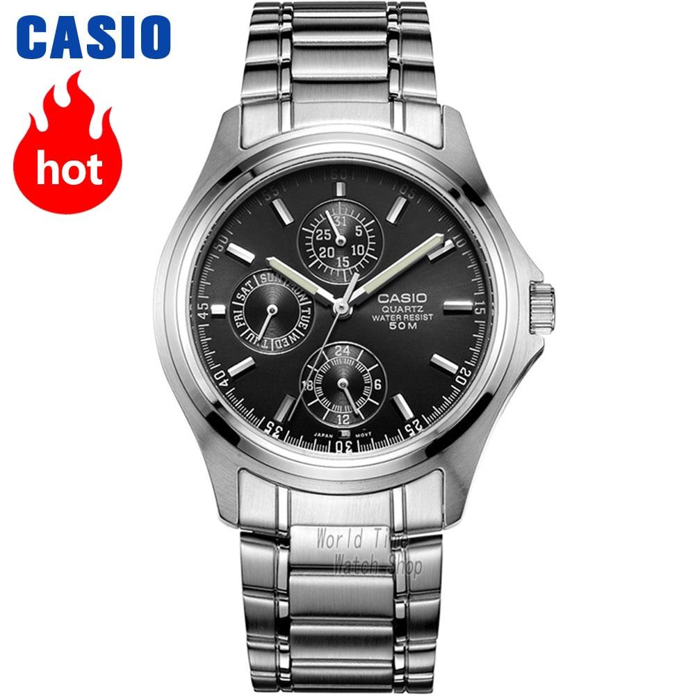 bd9f1d1734e4 Reloj Casio analógicas de los hombres de cuarzo reloj deportivo estilo  Caballero resistente al agua reloj MTP 1246 en Relojes de cuarzo de Relojes  en ...
