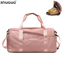 SNUGUG Nylon Sport Gym Bag Women For Shoe Outdoor Travel Sports Bag Ladies 2019 Big Fitness Bag New Shoulder Training Yoga Bags 2019 new brand high quality nylon waterproof sport bag men women for gym fitness outdoor travel sports trainging messenger bags
