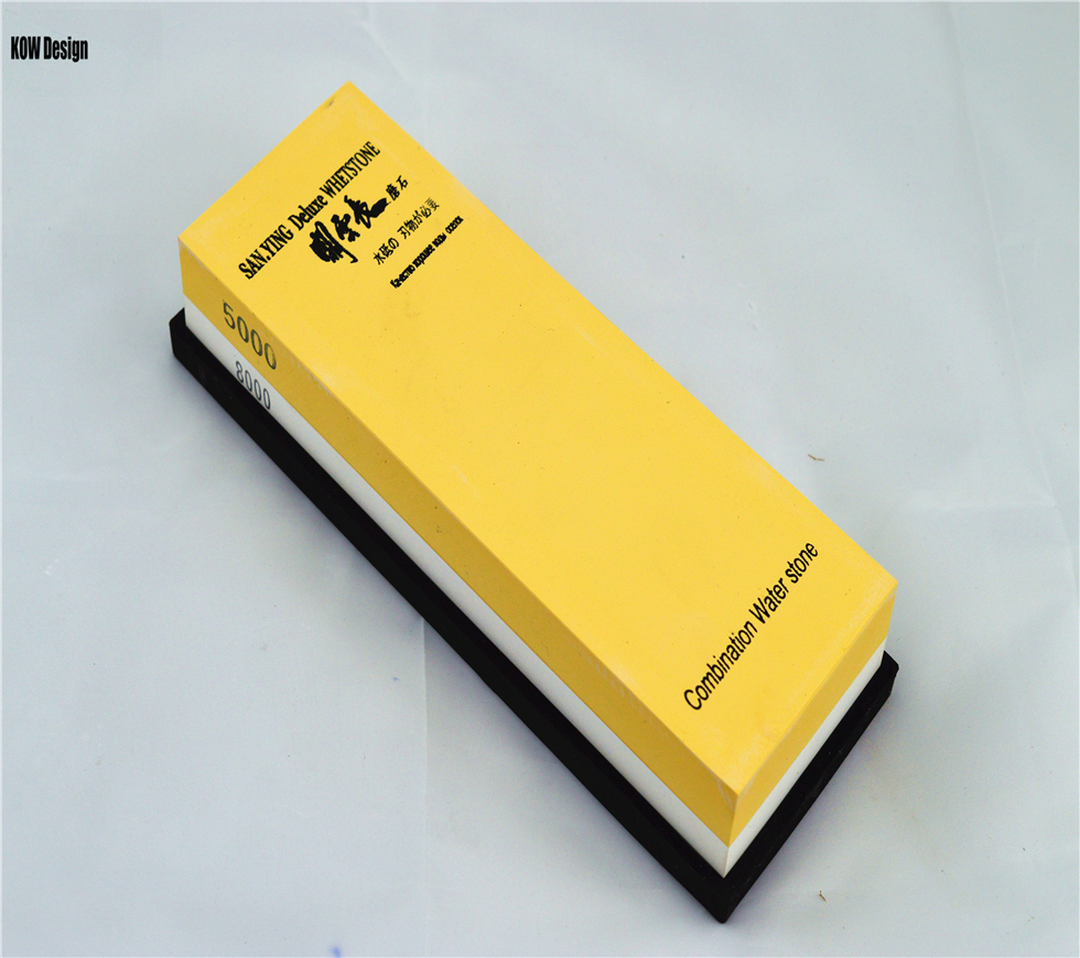KOW design 5000/8000 grit Polishing stone for Kitchen knife sharpener whetstone Grinder water stone 7*2*1 inches Sanying Brand