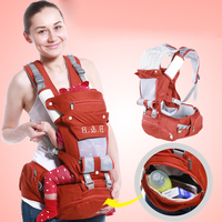 Yüksek Kalite bebek taşıyıcıları/bebekler taşıyıcı HipSeat Moda saf pamuk bebek sırt çantası ile sökülebilir büyük uzay anne Çantası
