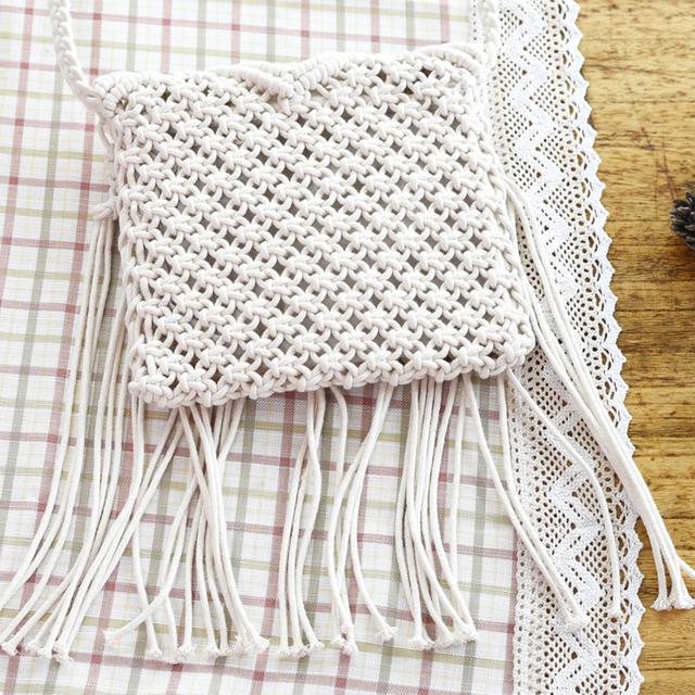 Woven Tassel Crossbody Boho Bag