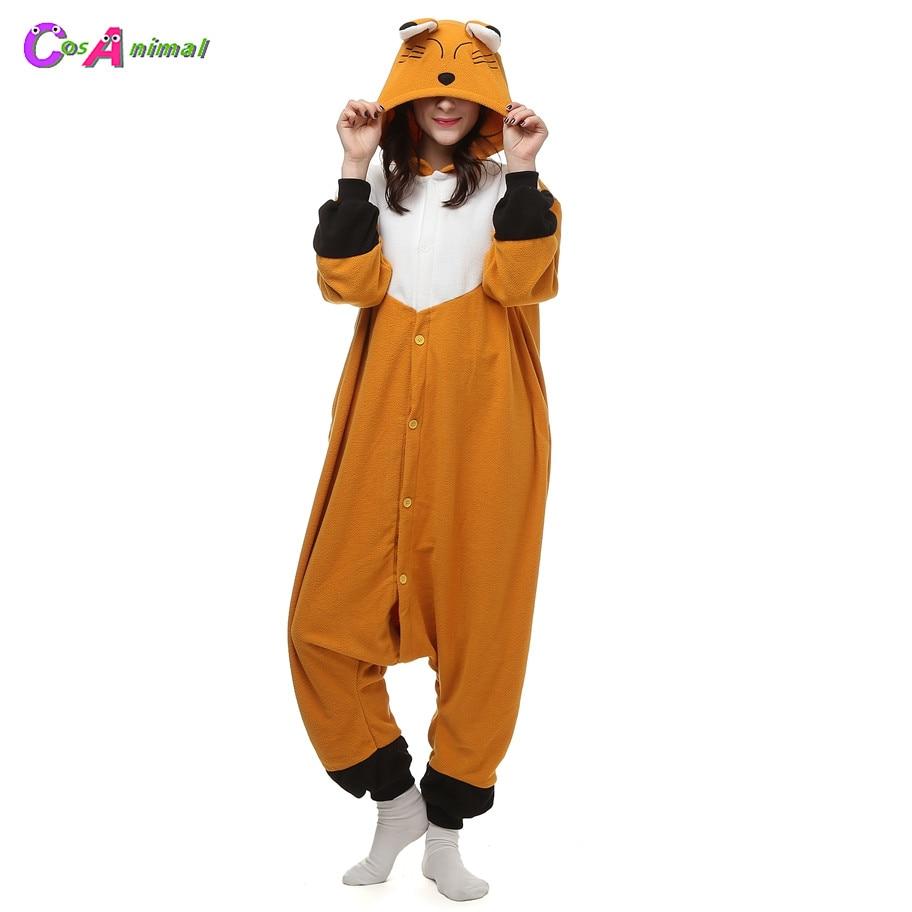 Fox Fleece Kostuums Dames Heren Jumpsuit Pyjama Halloween Party - Carnavalskostuums - Foto 1