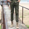 New Brand Male Pants Winter Elastic Thicken Pants Cotton Coveralls Army Green Leisure Trousers Men's Military Boot PantsMK-7136A