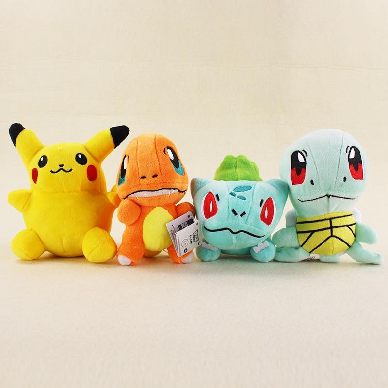 16cm Charmander Bulbasaur Squirtle Plush Toys High Quality Kawaii Anime Plush Toys Gift for Children