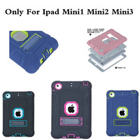 For Apple IPad Mini 1 2 3 Cover High Impact Resistant Hybrid Three Layer Heavy Duty