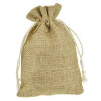 9x12cm 100pcs Gift jewelry package bag with Jute Drawstring Pouches Sack Favor Bag for Showers Weddings Parties and Receptions