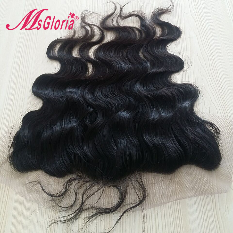 Msgloria Body Wave 13x4 Ear To Ear Full Silk Base Lace Frontal Closure Brazilian Remy Hair