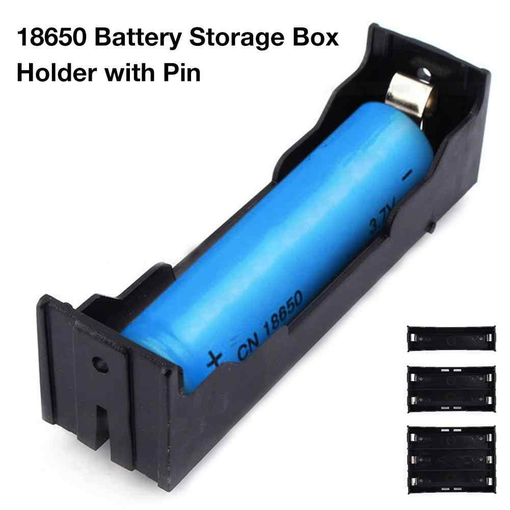 Abs 18650 バッテリー収納ボックス 3.7-11.1 v リチウム電池ホルダーケースとピン 1/2/3 電池ホルダー pcb ケースプラスチック容器