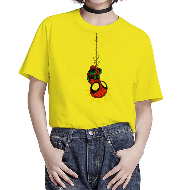 BGtomato super cute spiderman t-shirt lovely cartoon hero tshirt women cheap sale funny shirts casual top tees