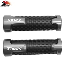купить 2018 Motorcycle CNC handlebar grips Handle hand bar grip For YAMAHA TMAX T-MAX 530 500 TMAX530 SX DX T MAX 2014 2015 2016 2017 дешево