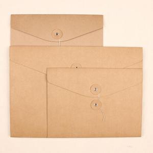 Image 2 - Small Kraft Paper Envelope A5 Brown Kraft Paper Envelope A4 Storage Paper Gift DIY Decorative Envelope WHITE