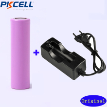 Battery plus UE Carregador para Lanterna 1 PC Pkcell 18650 Bateria 3.7 V 2600 Mah Recarregável Li-ion Led Batery