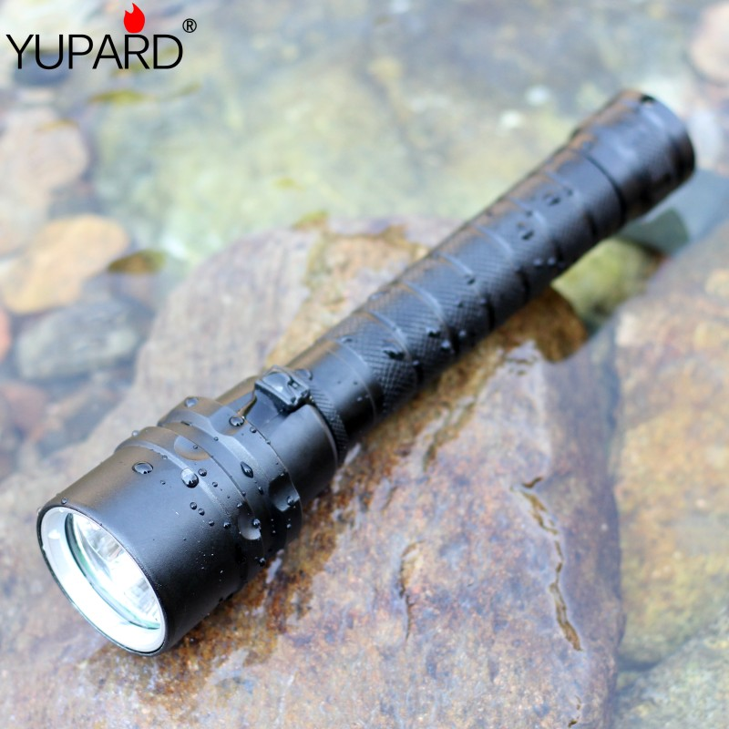 YUPARD New Diving 4000 lumens XM-L2 3*L2 led Flashlight Torch Waterproof underwear Lamp Light super T6 white yellow light cat paw style white light 2 led flashlight keychain w meow sound effect yellow pink 3 x ag10