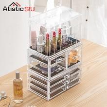 ФОТО Atistic SFJ Makeup Organizer Storage Box Acrylic Make Up Organizer Cosmetic Organizer Makeup Storage Drawers Organizer