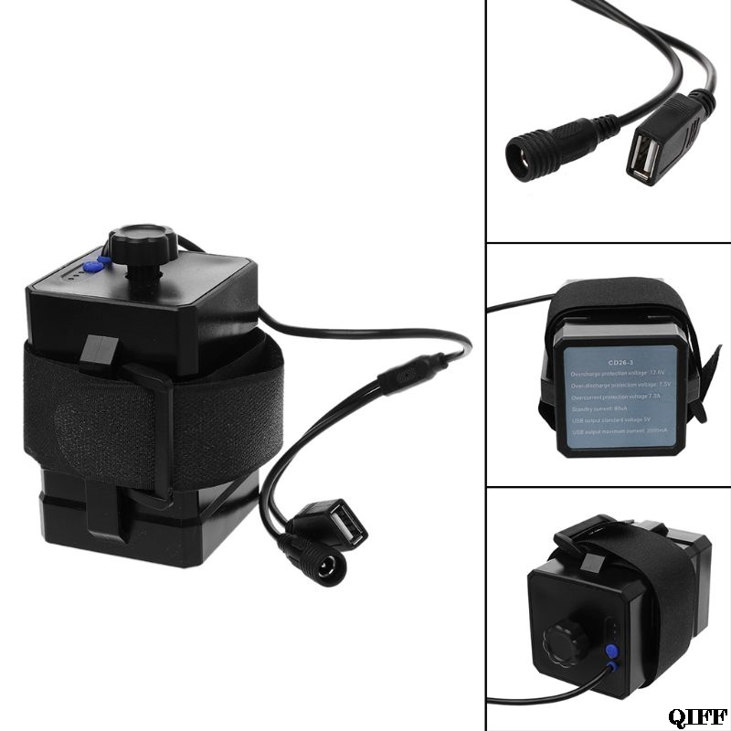 Drop Ship&Wholesale 12V Waterproof Battery Case Box with USB Interface Support 3x 18650 26650 Battery DIY Power Bank APR28 image
