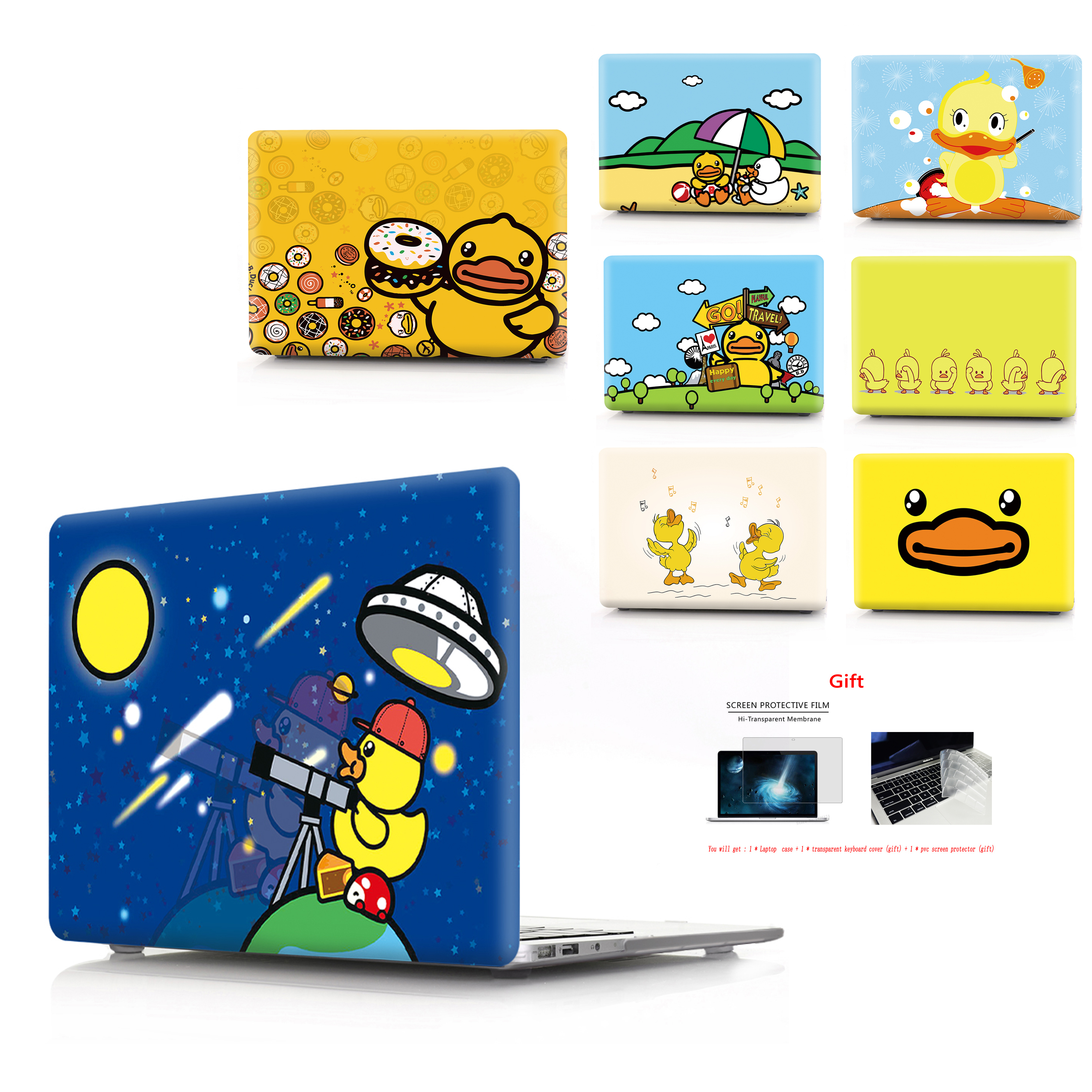 Yellow duck image shell Case For MacBook Air 13 Retina Pro 11 12 13 15 For MacBook New Pro 13 15 New Air 13 with Touch Bar in Laptop Bags Cases from Computer Office