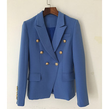 European women Blazers coat New 2018 classic eleghant OL jackets Fashion double breasted Jackets D051