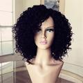 Бразильского виргинские вьющиеся человеческих волос боб парик необработанные короткие человеческих волос парики для чернокожих женщин дешевые glueless полные парики шнурка