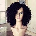 Bob peruca de cabelo humano não processado brasileiro virgem encaracolado perucas de cabelo humano curtos para as mulheres negras baratos glueless perucas cheias do laço
