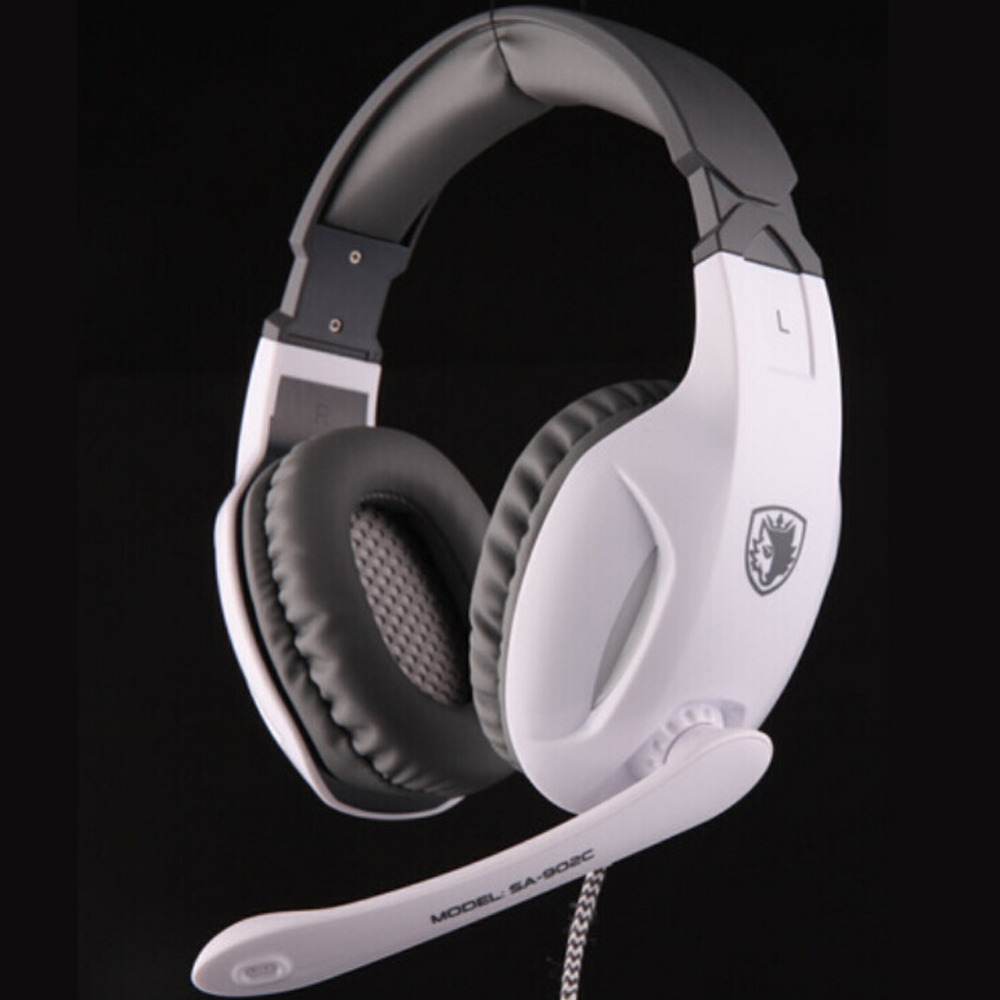 Sades SA-902C 7.1 Stereo Surround Sound Gaming Headphone Wired USB Game Auriculares with Mic PC Fone Headset for PC Gamer DJ PSP