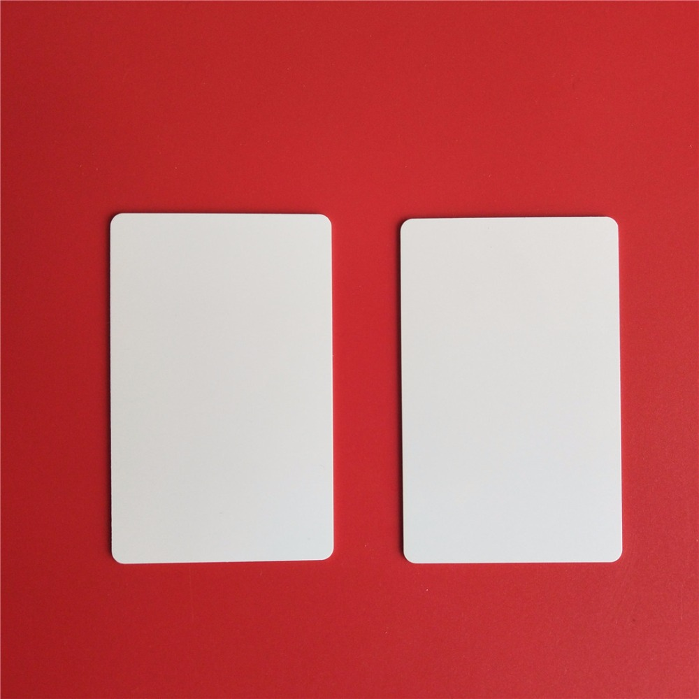 RFID Tag 125KHz T5577 Writable and Readable Copy ID Cards Proximity Blank Card non standard die cut plastic combo cards die cut greeting card one big card with 3 mini key tag card