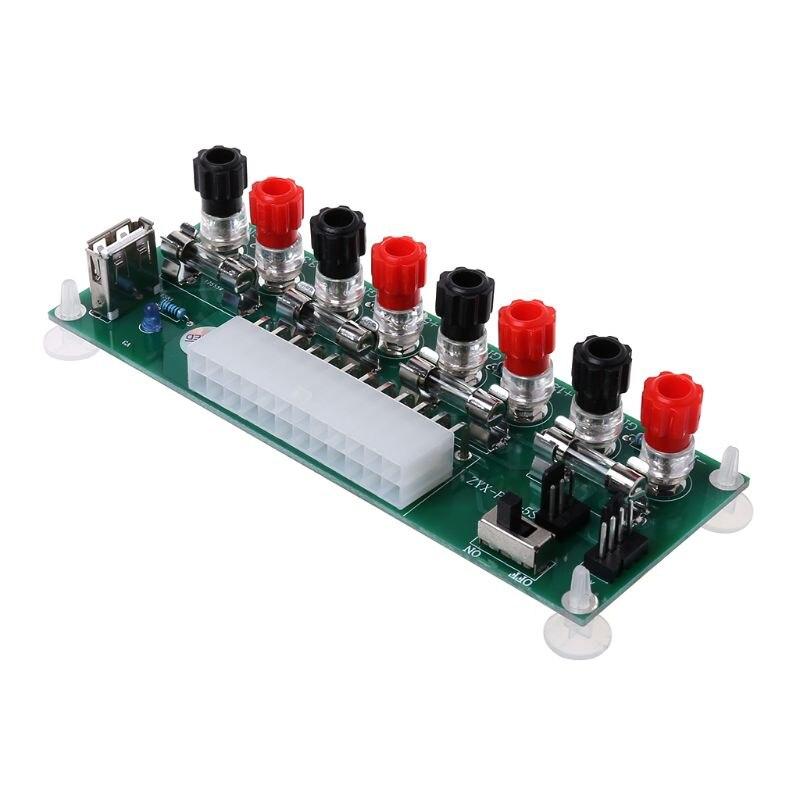 1 Pc Atx Tisch Computer Netzteil Elektrische Schaltung 24 Pins Breakout Board Modul Dc Stecker Stecker Usb 5 V Port