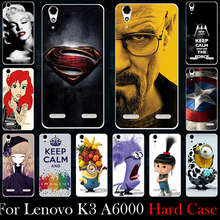 Hard Plastic Case For Lenovo K3 A6000 A6010 A6010 Plus 5.0 inch Case Mobile Phone Cover DIY Color Paitn Cellphone Bag Shell