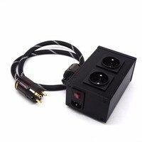 AC8.8 2500W 10A European filter power outlet Advanced Audio Power Purifier Filter AC Power Socket for EU AC Electrical Plug