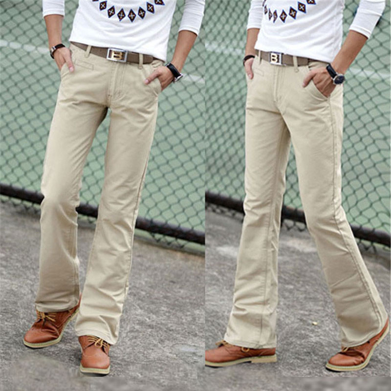 2020 Spring Summer Autumn Casual Flare Leg Boot Cut Jeans Men Slim Jeans  High Fashion Men's White Jean Trouser Size 27-36 38