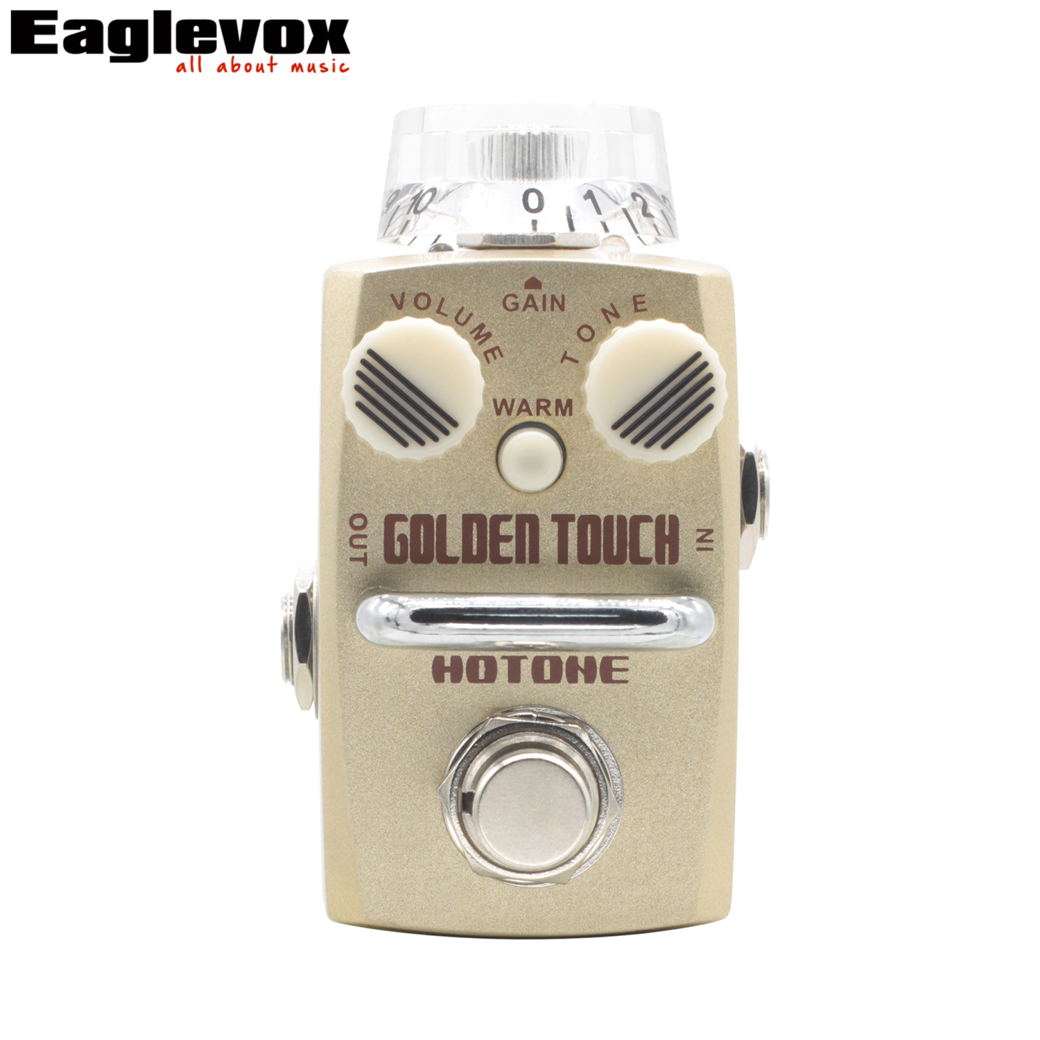 Hotone Golden Touch Overdrive Guitar Effect Pedal Warm  Natural Sweet Sound  True Bypass Effects for Electric Guitar mooer ensemble queen bass chorus effect pedal mini guitar effects true bypass with free connector and footswitch topper