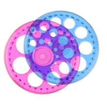 1 шт. пластик синий красный триста Шестигранная круглая линейка Лоскутная линейка материал Escolar офисные аксессуары