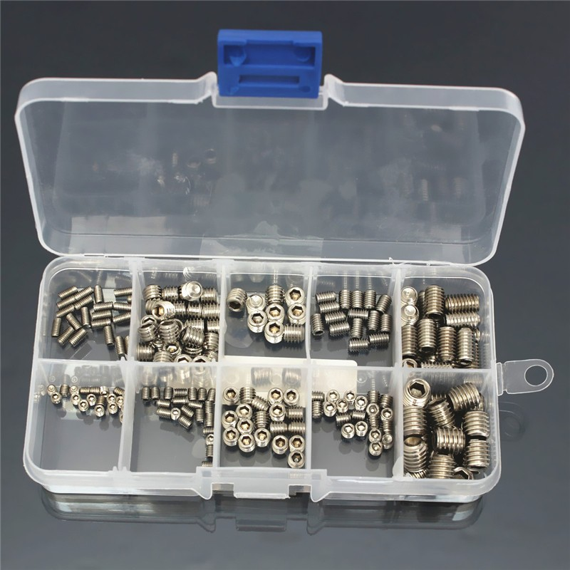 200pcs Stainless Steel Hex Socket Fastening Set Screw Flat Accessory Plug In Stock Stainless Steel Flat Head Hex Socket Screw 20pcs m3 6 m3 x 6mm aluminum anodized hex socket button head screw