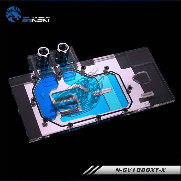 Bykski N-gv1080xt-x Gi Gabyte Gtx1080 Firefly Gtx1080 Xtreme Full Coverage Pmma Graphics Card Water Cooling Block Fan Cooling Can Be Repeatedly Remolded.