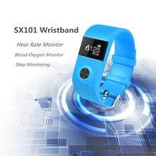 Умный браслет sx101 heart rate monitor smartband медицинских данных синхронизации смарт браслет для ios anfdroid рк xiaomi группа 2