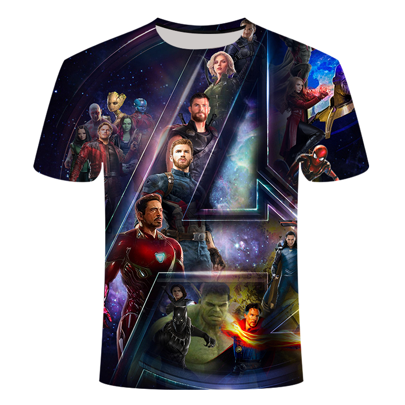 New Product Captain America T Shirt 3D Printed T-shirts Men Marvel T Shirt Film Avengers Iron Man War Men's Tops The Clothing6xl