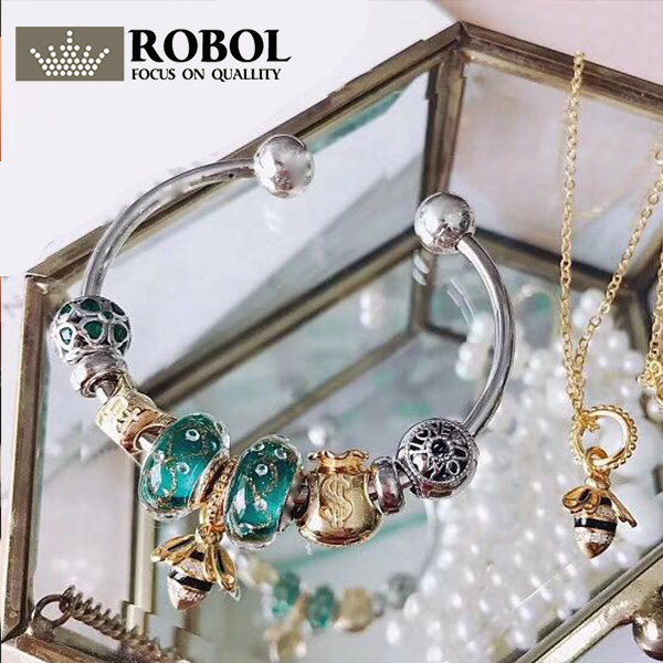 ROBOL 100%925 Sterling Silver New 1:1 Real Pictures To Pack Genuine Fashion Charm Bracelet Gift, Contact The Seller Has Video free shipping bko c2457 h01 no new old components sensor module can directly buy or contact the seller