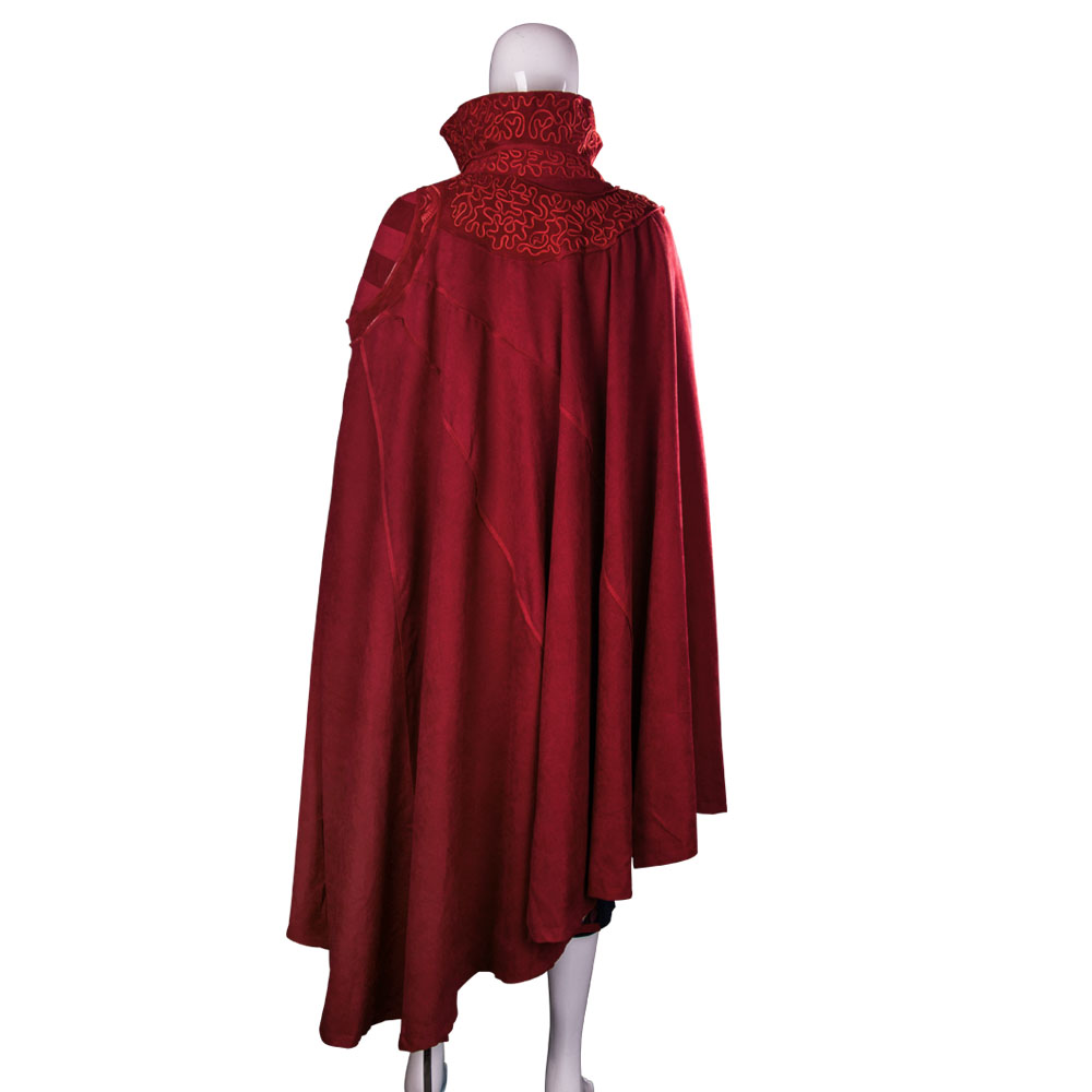 2016 Marvel Movie Doctor Strange Costume Cosplay Steve Red Cloak Costume Robe Halloween Costume Party