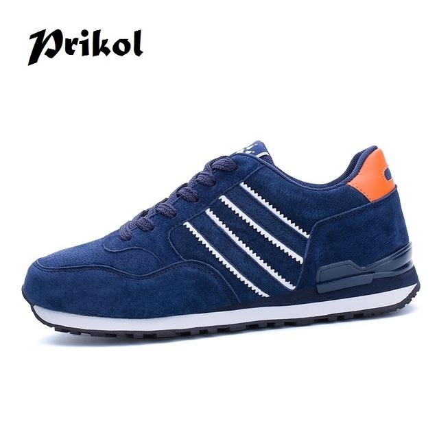Prikol Luxury Brand Men Tennis Shoes LightWeight Flexible Suede Leather Sports Shoes Wearable High Quality Sneaker Zapatillas