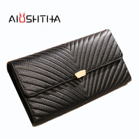 Women Wallets Genuine Leather Long Wallet Phone Bag Case Clutch Female Coin Purse Ladies Cartrira Feminina