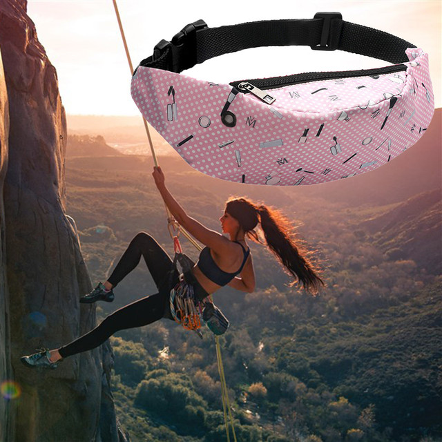 3D Colorful Print women waist Bag girls fanny packs Hip Belt Bags Money Travelling Mountaineering Mobile Phone Bag Waist Packs