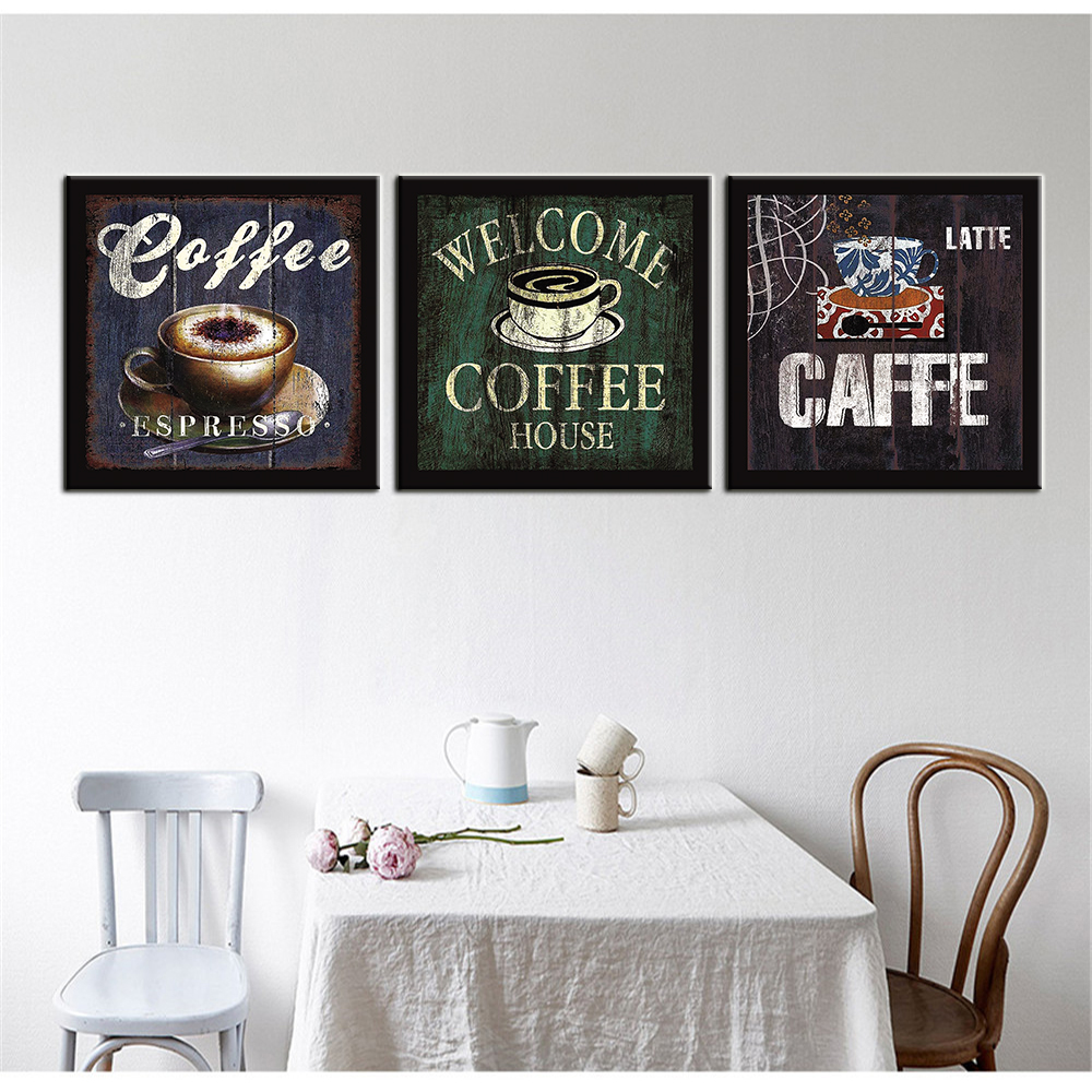 Painting calligraphy modular picture oil painting on for Dining room wall art on canvas