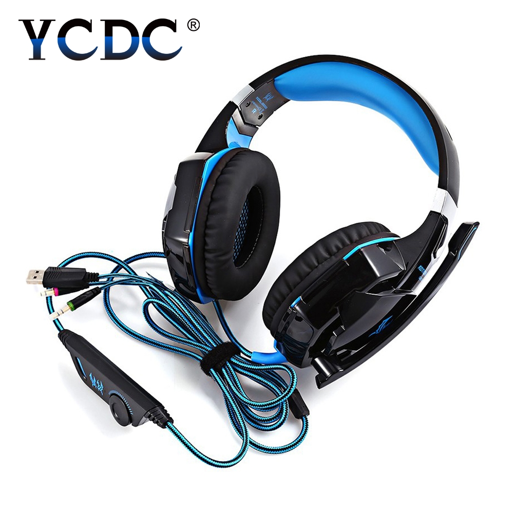 For PC Game Gamer USB Headphones Earphone Wired 3.5MM  Headphone With Microphone Low Bass headset earphones For computer phone super bass gaming headphones with light big over ear led headphone usb with microphone phone wired game headset for computer pc