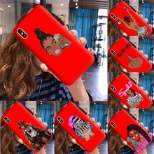 Funny Black Head Girl Phone Case Make Money Not Friends Women For iPhone 11Pro Max X XR XS 8 7 6s Plus Candy Red Silicone Cover