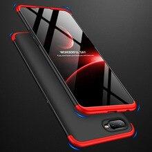 For OPPO A7 Case 360 Degree Protected Full Body Phone for OPPOA7 Shockproof Back Cover+Glass Film Capa