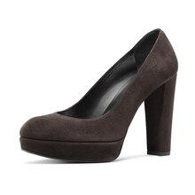 Big Size New Ladies High Heels Women Platforms Stiletto Pumps Flock Round Toe Shoes Spring TL-A0088